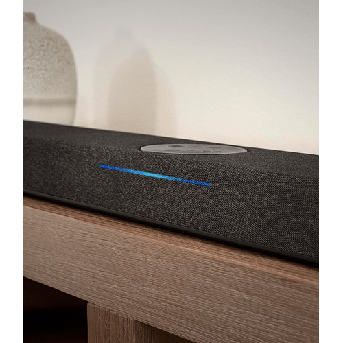 The home theater sound bar with Alexa Built-In in Black