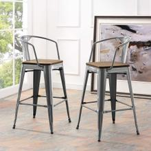Promenade Bar Stool in Gunmetal