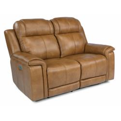 Kingsley Power Reclining Loveseat with Power Headrests and Lumbar