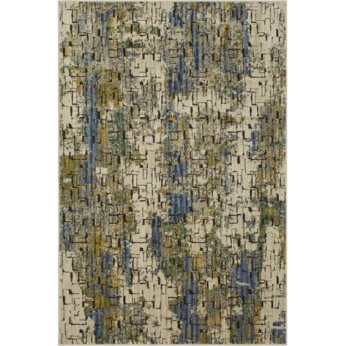 "Mosaic Tributary Aquamarine 5' 3""x7' 10"""
