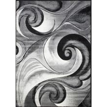 DA-410 GRAY Abstract Wave Rug