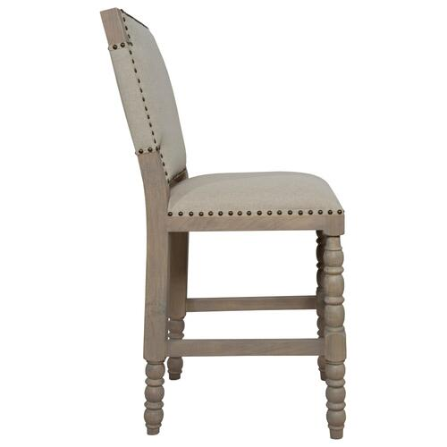 24'' Bar Stool, Available in Coastal Brown or Coastal Grey Finish.