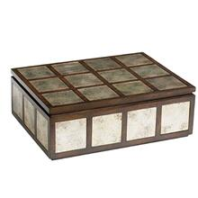 Off The Grid Box Large - Mahogany And Gold
