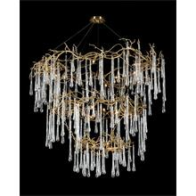 Branched Crystal Twenty-Light Chandelier