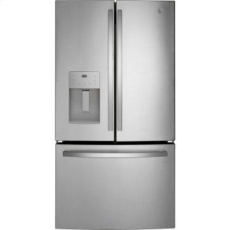 GE™ Energy Star™ 25.6 Cu. Ft. French-Door Refrigerator Fingerprint Resistant Stainless Steel - GFE26JYMFS