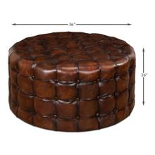 See Details - Leather Tufted Ottoman