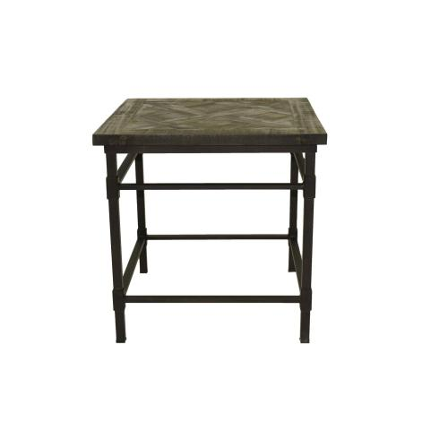 End Table W/Metal Base