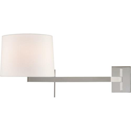 Visual Comfort BBL2164PN-L Barbara Barry Sweep 1 Light 12 inch Polished Nickel Articulating Wall Sconce Wall Light, Medium Right