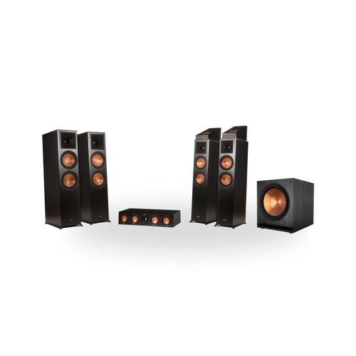 Klipsch - RP-8060FA 5.1.4 Dolby Atmos® Home Theater System - Ebony