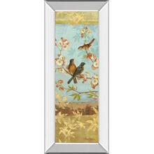 """Robins & Blooms Panel"" By Pamela Gladding Mirror Framed Print Wall Art"