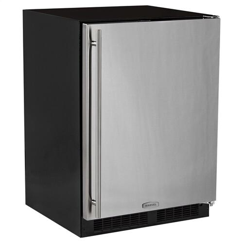 24-In Built-In All Freezer with Door Style - Stainless Steel, Door Swing - Right