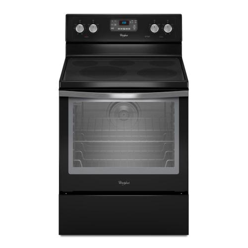 Whirlpool - 6.2 cu. ft. Capacity Electric Range with AquaLift® Self-Clean Technology