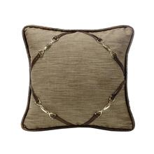 Highland Lodge Throw Pillow W/ Buckle Corners, 18x18