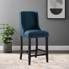 Baron Upholstered Fabric Counter Stool in Azure