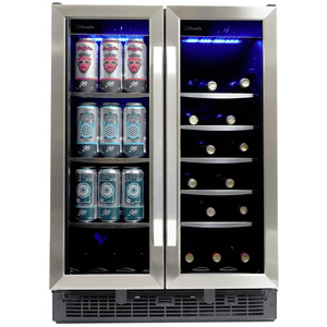 "SilhouetteEmmental 24"" French Door Beverage Center"