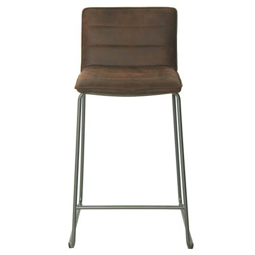 Keane KD PU Counter Stool, Antique Bistre Brown