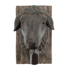 Sheep Head With Bell Wall Decor