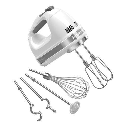 9-Speed Hand Mixer - White