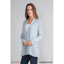 Side Button Rib Cardigan - XS (3 pc. ppk.)