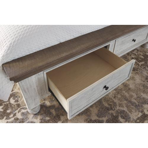 Havalance California King Poster Bed With 2 Storage Drawers