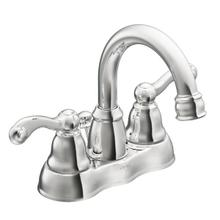 Traditional chrome two-handle bathroom faucet