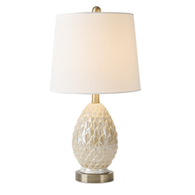 Ivory Luster Artichoke Table Lamp. 40W Max.