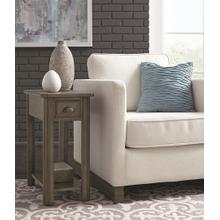 Oak Chairside End in Cathedral Gray       (2114-07,52859)