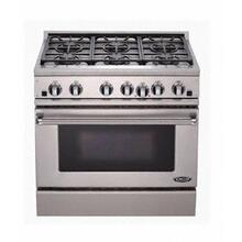 "Brushed Stainless Steel 36"" Prof. Dual Fuel Range"
