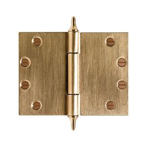 """Butt Hinge (Wide Throw) - 4 1/2"""" x 6"""" Silicon Bronze Brushed Product Image"""