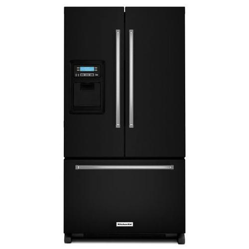 KitchenAid - KitchenAid® 20 cu. Ft. 36-Inch Width Counter Depth French Door Refrigerator with Exterior Ice and Water - Black