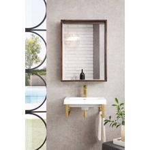 """See Details - Boston 20"""" Wall Brackets, Radiant Gold, White Glossy Resin Countertop"""
