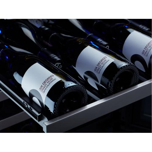 "24"" Black Stainless Dual Zone Wine Cooler"