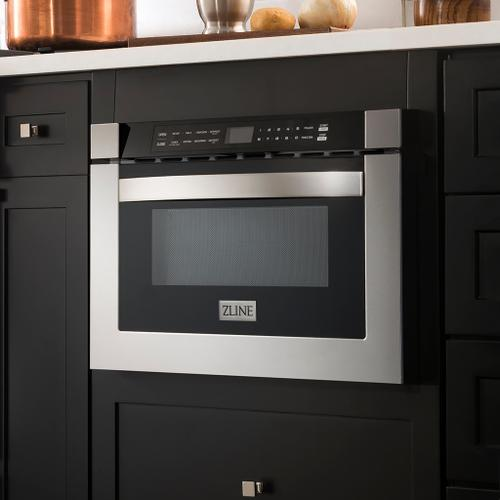 """Zline Kitchen and Bath - ZLINE 24"""" 1.2 cu. ft. Built-in Microwave Drawer in Stainless Steel (MWD-1) [Color: Stainless Steel]"""