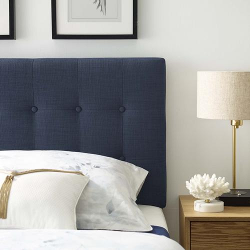 Modway - Emily Twin Upholstered Fabric Headboard in Navy