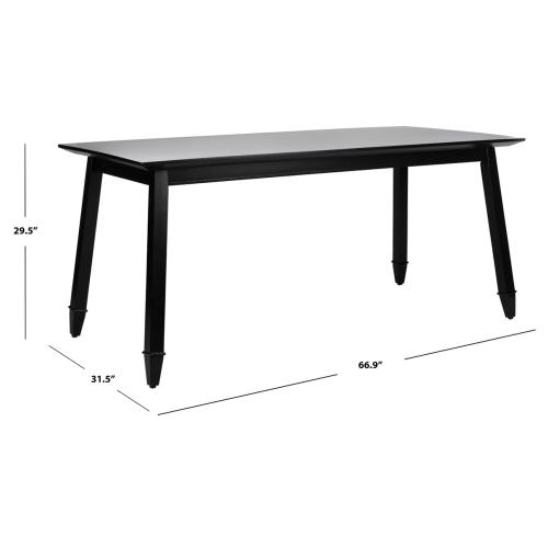 Brayson Rectangle Dining Table - Black