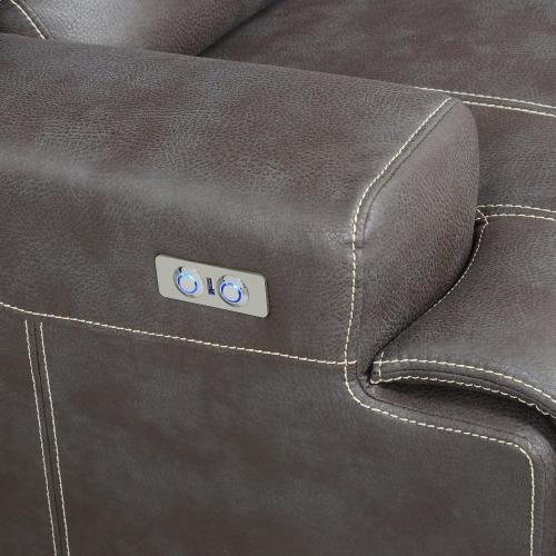 Emerald Home Highland U8058-21-05 Power Console Loveseat W/ Usb Power Outlet (copy)