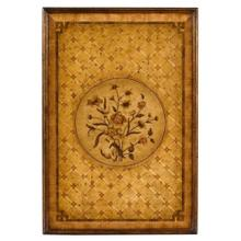 Floral Marquetry Wall Hanging Panels (Pair)