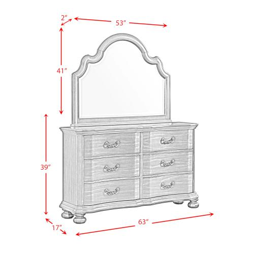 Avery 6-Drawer Dresser with Mirror