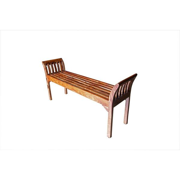 Sheesham Accents Harvest Bench, ART-2680-HRU