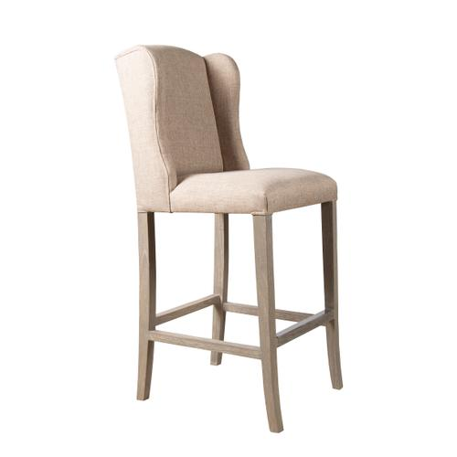 Capris Furniture - 24'' Bar Stool, Available in Daphne Grey and Daphne Brown upholstery with Coastal Grey legs ONLY.
