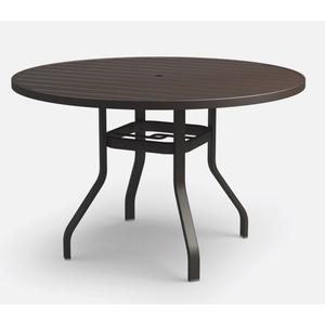 """54"""" Round Balcony Table (with Hole) Ht: 34"""" 37XX Universal Aluminum Base (Model # Includes Both Top & Base)"""
