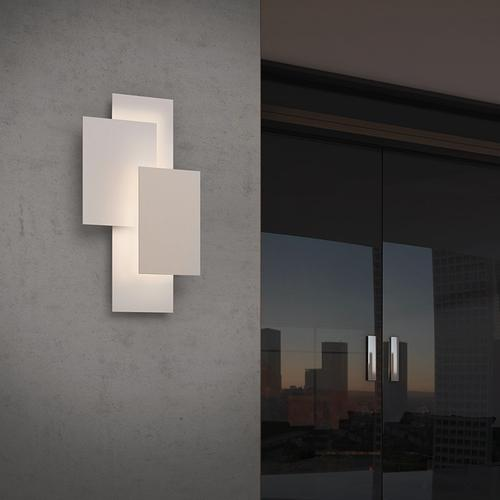 Sonneman - A Way of Light - Offset Panels LED Sconce [Color/Finish=Textured Gray]
