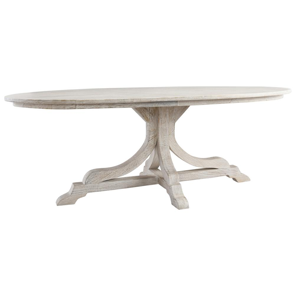 See Details - Aimee 84\u0022 Oval Dining Table Pearl
