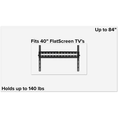 "FLASH MOUNT Tilt TV Wall Mount with Built-In Level - Magnetic Quick Release Pendants - Fits most TV's 40"" - 84"" (Weight Capacity 140LB)"