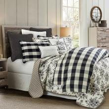 3 PC Camille Comforter Set, Black - Full