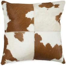 Carley Pillow - Tan / White