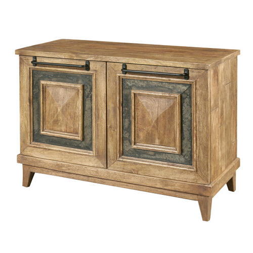 Rustic Stone Insert Two Door Chest