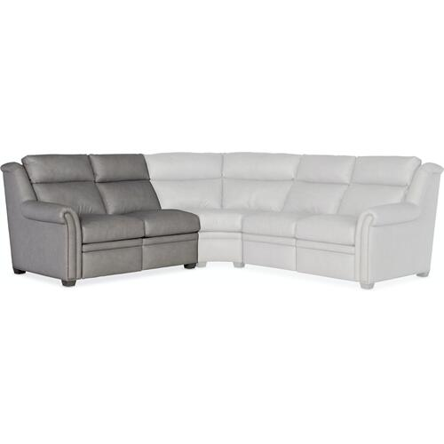 Bradington Young Sectionals 206 Robinson Reclining Sectional with Two-Piece Back