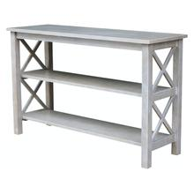 Hampton Sofa Table in Taupe Gray