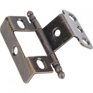 "3/4"" Frame x 3/4"" Door Flush Hinge Antique Brass Product Image"
